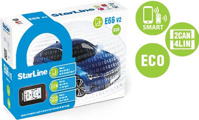 Автосигнализация StarLine E66 V2 BT ECO 2CAN+4LIN
