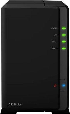 Сетевое хранилище Synology DiskStation DS218play Черный