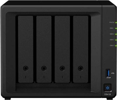 Сетевое хранилище Synology DiskStation DS418 черный