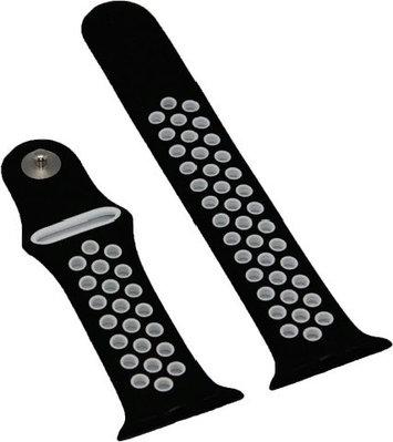 Ремешок A-case Sport Band для Apple Watch 38 mm черный-белый