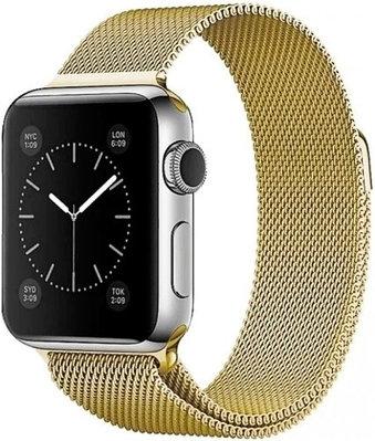 Ремешок A-case Milanese Loop для Apple Watch 38 mm золостистый