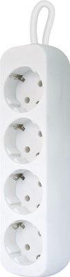Сетевой фильтр Defender E418 1.8 м белый