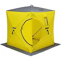 Палатка зимняя куб 1,8х1,8 yellow/gray helios (hs-isc-180yg) tr-85084