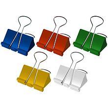 Зажим для бумаг BERLINGO, 41 мм, цветные (12 шт)