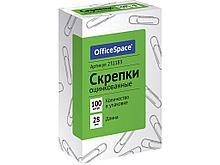 Скрепки OfficeSpace 28 мм, оцинкованные, 100 шт/упак