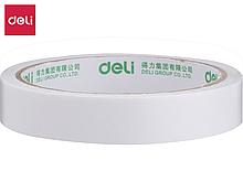 Клейкая лента двусторонняя DELI 18 мм х 10 м (полипропиленовая основа)