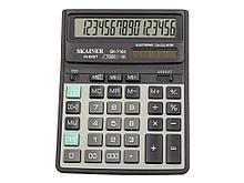 """Калькулятор настольный SKAINER """"716II"""" 16 разрядный черный"""