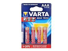 """Батарейки VARTA """"Max Tech""""  ААА (мизинчиковые) 4 шт/упак"""