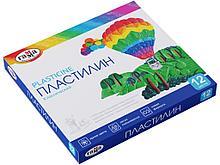 """Пластилин Гамма """"Классический"""" 12 цветов, со стеком"""