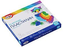 """Пластилин Гамма """"Классический"""" 10 цветов, со стеком"""