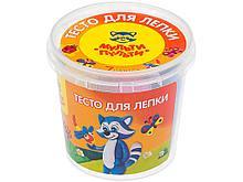 "Тесто для лепки Мульти-Пульти ""Енот в деревне"", 7 цветов по 30 гр, пластиковый стакан"