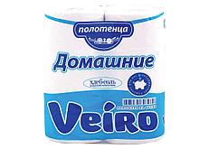 """Полотенца бумажные Veiro """"Домашние"""" 2-х слойные, 2 рулона в упаковке"""