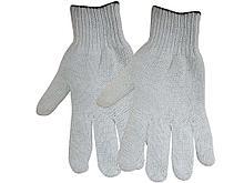 Перчатки х/б OfficeClean, эконом,без покрытия,4 нитки, белые