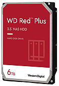 "Жесткий диск HDD 6 Tb Western Digital Red Plus WD60EFZX 3.5"" 5640rpm 128MB"