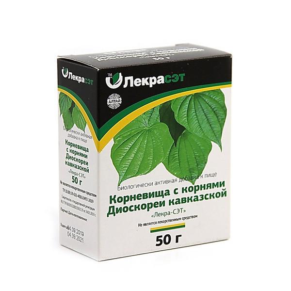 Диоскорея, Кавказская корневища с корнями 50г