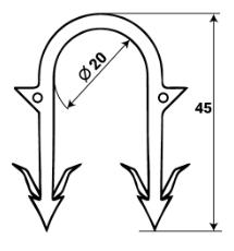 Скобы для такера 12-20  VALTEC (теплый пол)