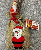 Мешочек с подарком Санта (Дед Мороз)
