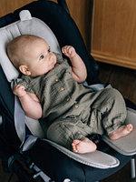 "Детский матрас в коляску дышащий 3D матрасик Leokid Newborn Cotton ""Slate"""