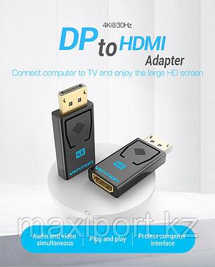 Адаптер Vention Display Port (папа) на Hdmi (мама) Dp to Hdmi, фото 2