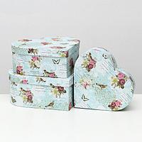 Набор коробок 3 в 1 'Сердца', 28.5x26x11-23.5x21x8.5 см