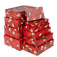 Набор коробок 10 в 1 'Белый шиповник', 36,5 х 26,5 х 12 - 23 х 13 х 3 см