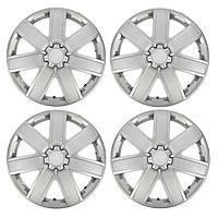 Колпаки колесные R15 'ГАЛАКСИ', серебристый карбон, набор 4 шт.
