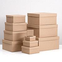 Набор коробок 11 в 1 'Крафт однотонный' 23 х 23 х 12 - 5,5 х 5,5 х 2,5 см