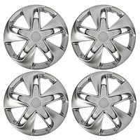 Колпаки колесные R15 'СУПЕР АСТРА', серебристый карбон, набор 4 шт.