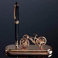 Ручка на подставке 'Велосипед' с кристаллами Swarovski 16,2х16,2 см
