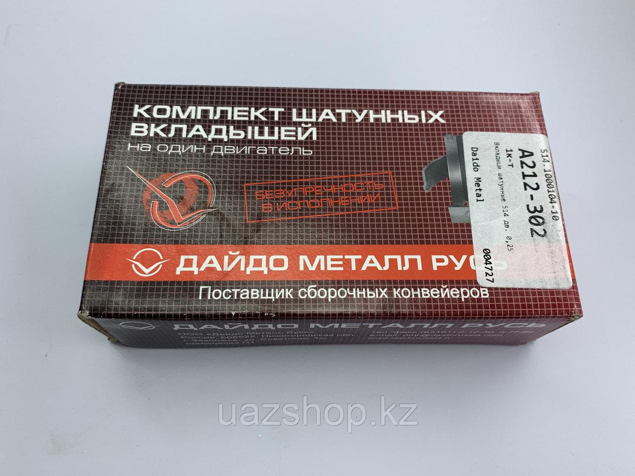 Комплект шатунных вкладышей для ЗМЗ 514  (0,25)