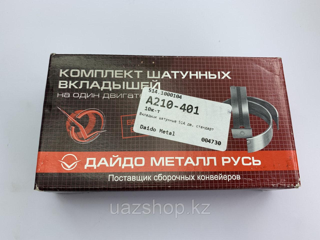 Комплект шатунных вкладышей для ЗМЗ 514  (СТД)