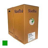 Shelbi Кабель связи витая пара U/UTP, кат.5E 4х2х24AWG solid, PVC, 305м, зелёный