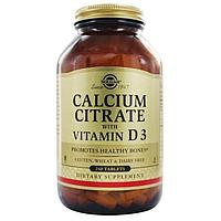 Витамины Solgar Calcium Citrate with Vitamin D3 240 таб