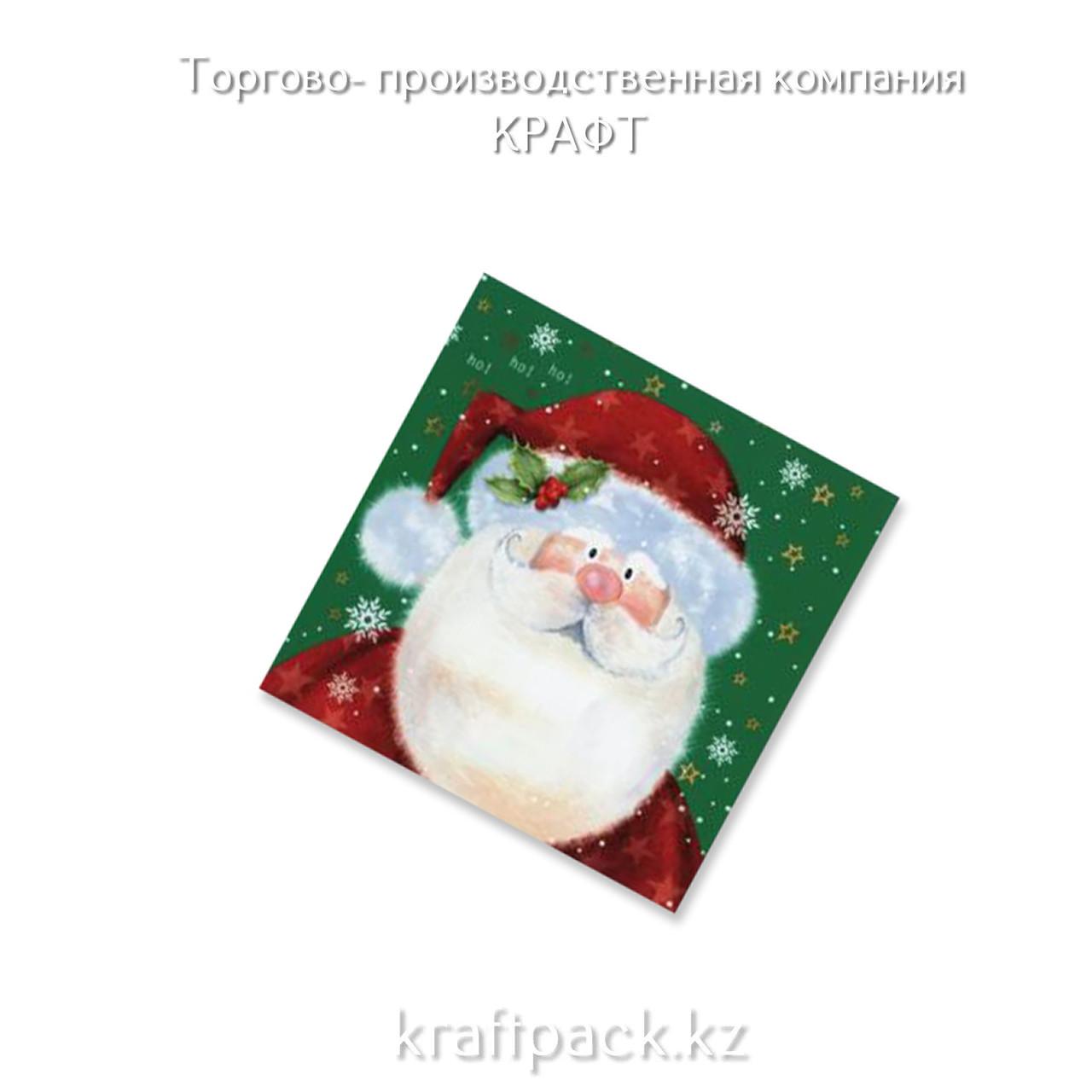"""Салфетки """"Добрый Дед Мороз"""" 33*33 (20 шт/уп - 12 уп/кор)"""