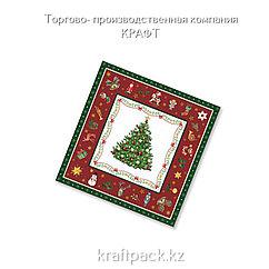 """Салфетки """"Новогодняя сказка на красном"""" 33*33 (20 шт/уп - 12 уп/кор)"""