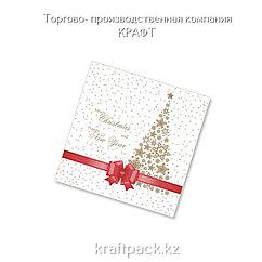 "Салфетки ""Подарок красная лента New"" 33*33 (20 шт/уп - 12 уп/кор)"