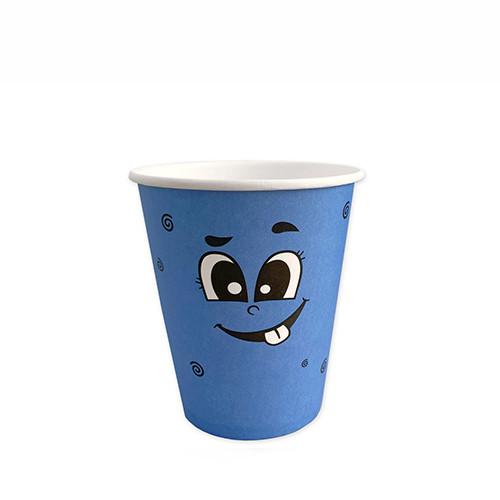 """Стакан бумажный для горячих/холодных напитков  """"Emoji Голубые"""" 350мл (12 OZ / D90) (50/1000)"""
