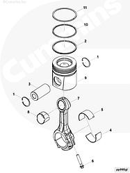 Поршень двигателя Cummins ISLe 5321202