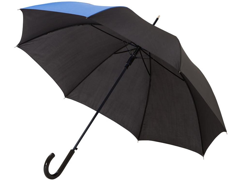 Зонт-трость Lucy 23 полуавтомат, черный/синий
