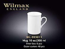 """Кружка """"Wilmax"""", 300 мл., фарфор, белая"""