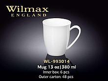 """Кружка """"Wilmax"""", 380 мл., фарфор, белая"""