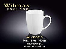 """Кружка """"Wilmax"""", 460 мл., фарфор, белая"""