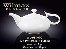 "Чайник заварочный ""Wilmax"", 1150 мл, фарфор, белый"