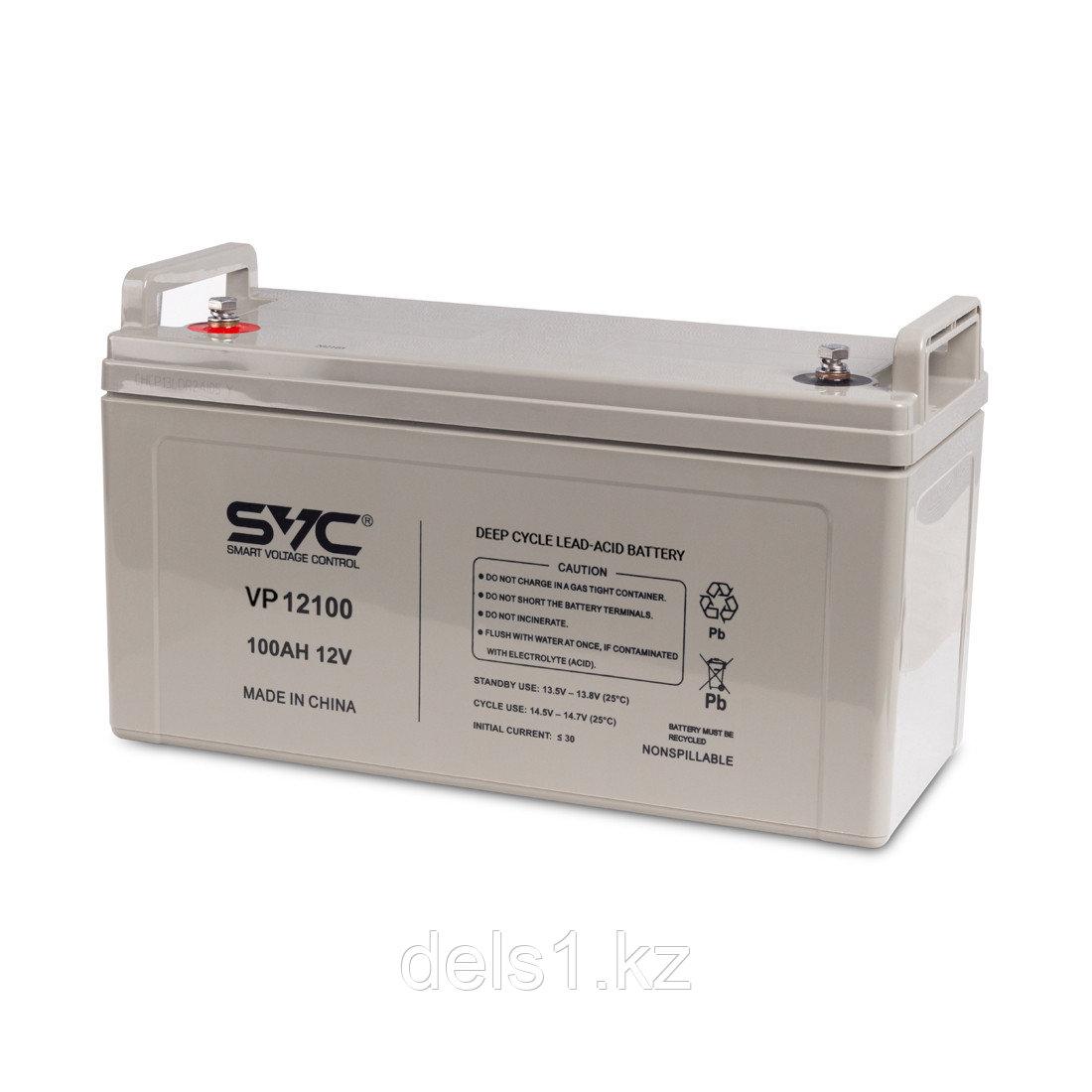 Батарея, SVC, Свинцово-кислотная VP12100 12В 100 Ач, Размер в мм.: 407*172*236