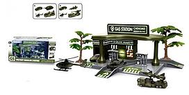 Игровой набор GS Автозаправка Military 1041097