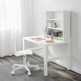 PÅHL ПОЛЬ Письменн стол с полками, белый96x58 см