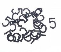 Цифра 5 (пять) для маркировки сыра, 20 шт.
