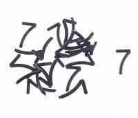 Цифра 7 (семь) для маркировки сыра, 20 шт.