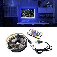 Лента светодиодная RGB с пультом и usb TV LED STRIP 2 метра