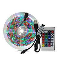 Лента светодиодная RGB с пультом и usb TV LED STRIP 5 метра